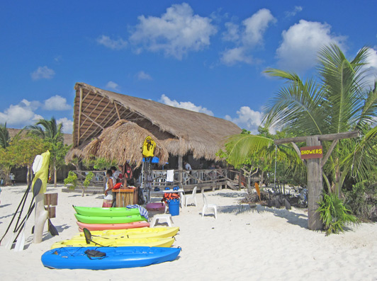 Beachclub and cantina, Punta Sur Eco Park , Cozumel.