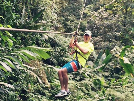 Costa Rica is home to some of the longest and highest ziplines in the world.
