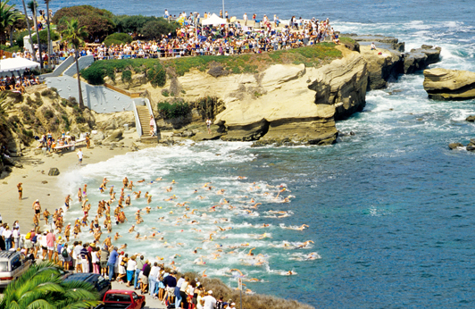 Best time to be in La Jolla: 2,000 swimmers ranging in age from 5 to 85 participate in the La Jolla Rough Water Swim.