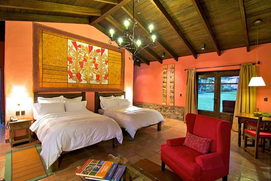Spacious rooms at Sol y Luna open onto private terraces.