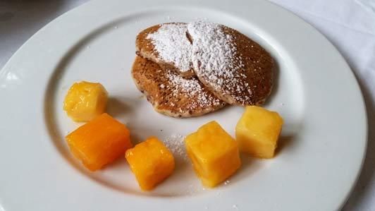 Quinoa pancakes a la Inkaterra Aguas Calientes.