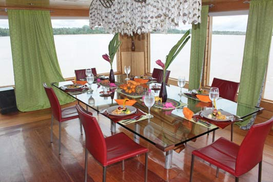 Meals on the Delfin 1 included lots of produce from the Amazon River and rainforest.