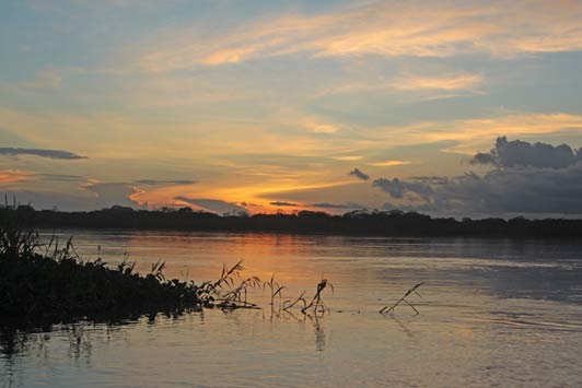 Amazon River sunsets are gorgeous.