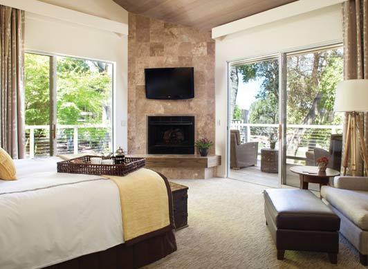 Veranda Suite bedroom at Carmel Valley Ranch