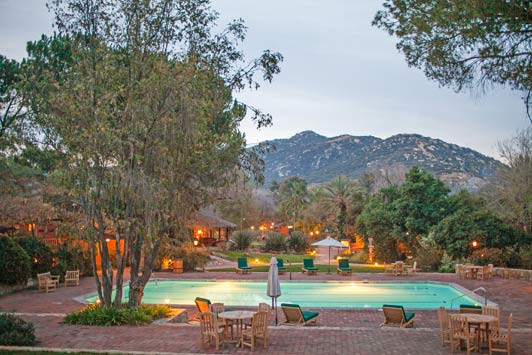 This is the central pool at Rancho La Puerta in Tecate, Mexico.