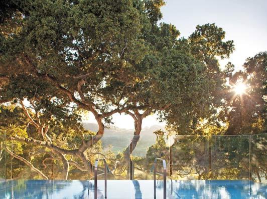 Carmel Valley Ranch - Infinity hot tub next to Spa Aiyana.