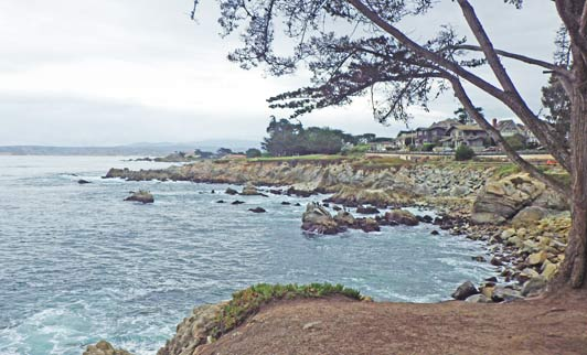 Lovers Point in Pacific Grove is the southern end of the rec trail that starts on Cannery Row.