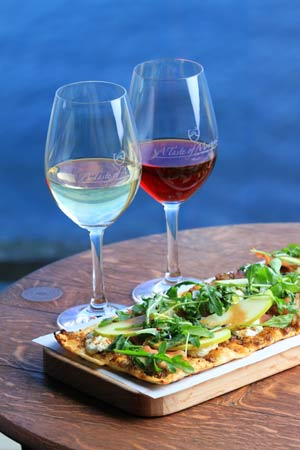 Flatbread, vino, and a great water view from Taste of Monterey.