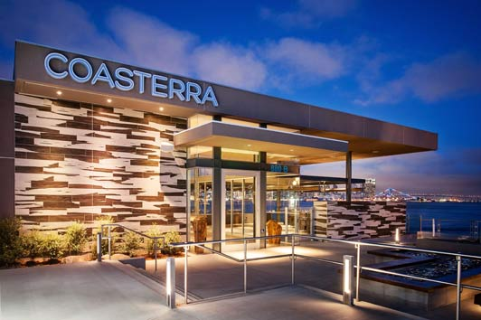 Coasterra, on Harbor Island, is a great introduction to authentic San Diego. Credit Auda Coudayre Photography.