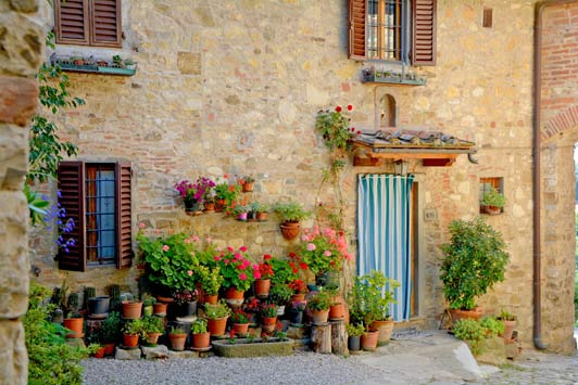 Montefioralle is a Medieval village in Tuscany.