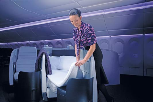 Air New Zealand's Business Class beds almost guarantee a good night's sleep.