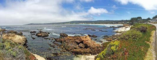 Along El Camino Real: the view from the beach in Carmel. Credit: Maggie Espinosa.