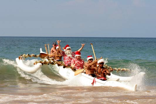 Can Santa help you find airline tickets to your dream destination? Credit: Fairmont Kea Lani Maui.