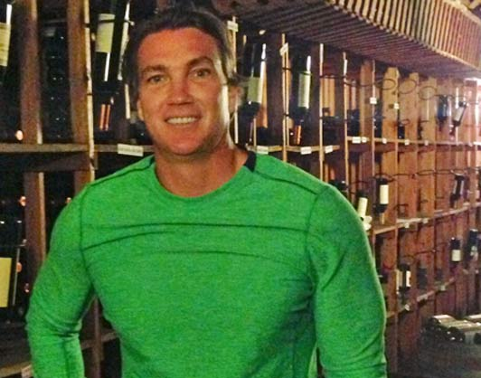 Jason in a wine cellar in Buenos Aires, Argentina, last year.