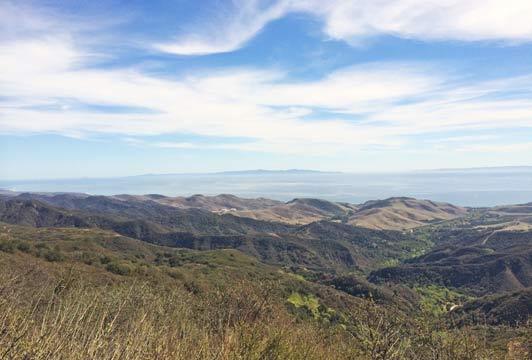 Refugio Pass view along El Camino Real. Credit: Maggie Espinosa.