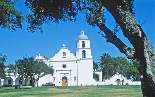 Mission San Luis Rey, Oceanside, California. Credit: ADAMS / HANSEN STOCK PHOTOS.