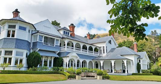 Christchurch accommodation: Otahuna Lodge is a heritage property located outside the city.