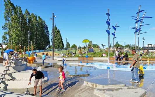 This state-of-the art playground / waterpark is right in the center of the Christchurch CBD.