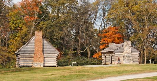 Nashville: slave cabins on Andrew Jackson's plantation.