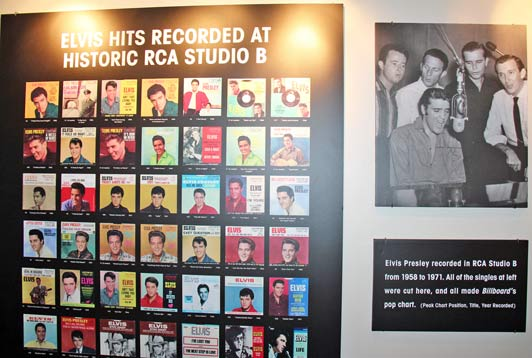Nashville's favorite son Elvis Presley recorded more than 250 songs at RCA Studio B.