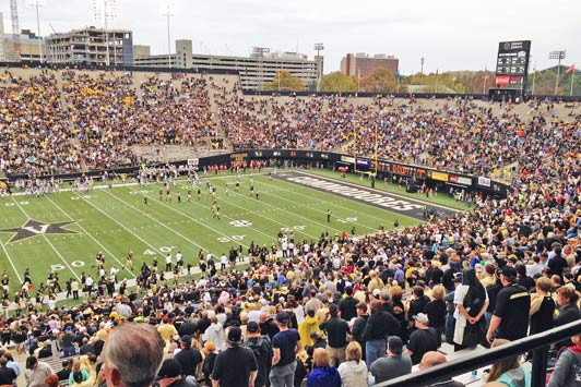 Authentic travel: Living like a local in Nashville...watching football at Vanderbilt University.