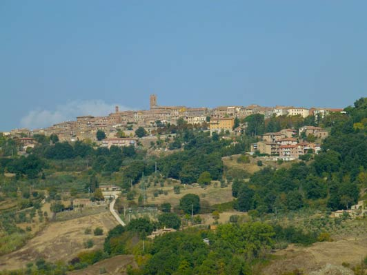 Peaceful Radicondoli in Tuscany is a great place for a Deep Yoga retreat.