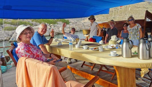 Another very enjoyable meal with friends along the Turkish coast.