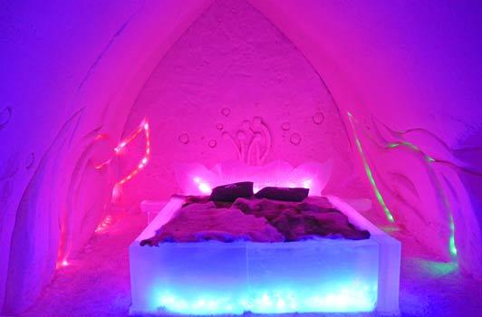 The Arctic Snow Hotel near Rovaniemi, Finland.