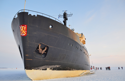 The Sampo is the only icebreaker in the world offering public cruises.