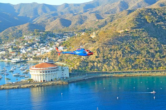 Island Express Helicopters   provide the best views of Catalina.