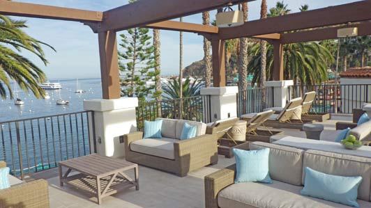 Seriously, have you ever seen a dreamier relax lounge than this one at Island Spa Catalina?