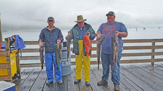 The Harford Wharf remains a popular place for commercial and recreational fishing.