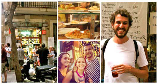 Solo travelers on a Trip4Real tapas and vermouth tour of Barcelona.