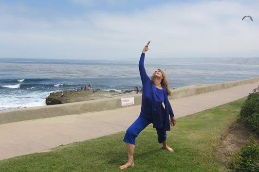 Anne Marie Welsh teaches yoga in La Jolla, California.