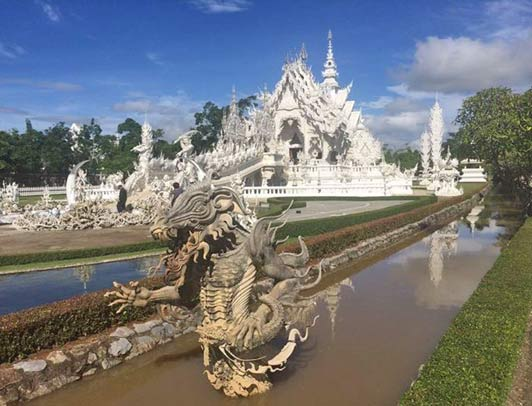 In SE Asia: The White Temple, Wat Rong Khun, in Chiang Rai.