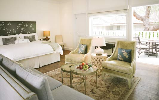 At this Santa Barbara hotel, spacious suites are located in historic cottages.