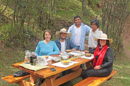 Peruvian picnic at Salineras Ranch.