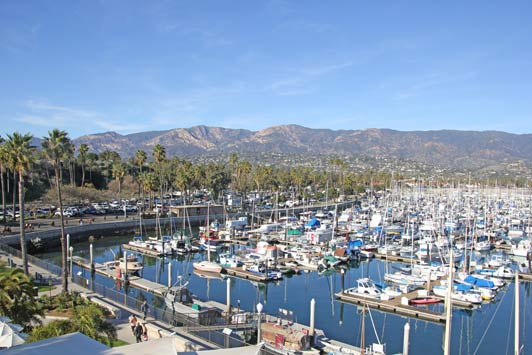 For the best view of the Santa Barbara Harbor, go to the top of the Waterfront Center.