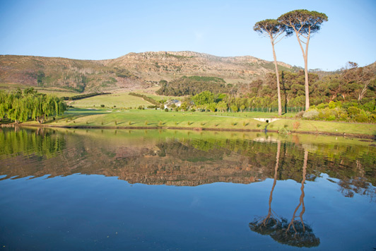 The serene Steenberg Estate outside of Cape Town includes an 18-hole golf course, vinyards, a winery, an excellent restaurant and lodging in Cape Dutch style buildings.