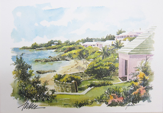 Paintings by Bermuda artist Joan Forbes can be found at the Art House Gallery in Hamilton. Win this print by adding a comment below.