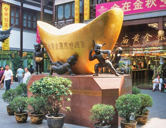 John's luxury China tours include a stop at this bazaar outside Yu Garden in Shanghai.