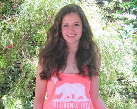 Marta Cossettini, who lives in Friuli-Venezia Giulia, made lots of new friends when she visited California.