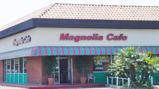 The mom-and-pop Magnolia Cafe serves breakfast at prices local seniors appreciate.