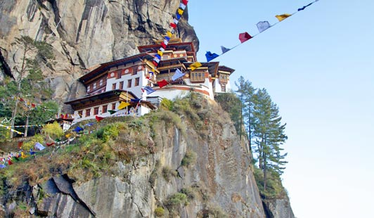 Taksang (Tigers nest) Monestery is the holiest place in all of Bhutan.