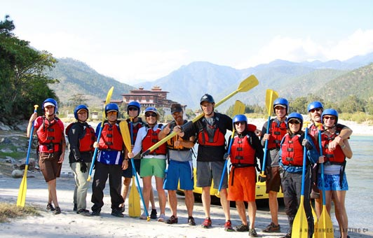 Northwest Rafting Company guests experience authentic Bhutan.