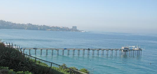 Scientists from Scripps Institution of Oceanography conduct experiments from the Scripps Pier in La Jolla.