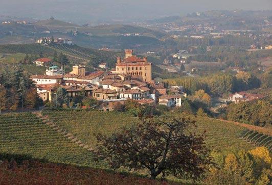 Village of Barolo in Piemonte, Italy.