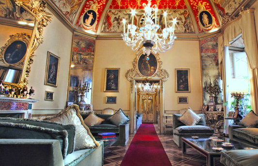 Ruspoli-Bonaparte Residence, a luxury villa in Rome.