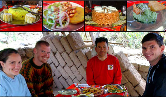 Nina Fogelman's happy clients in Peru.