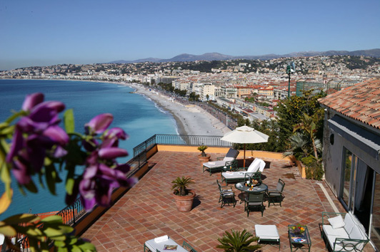 Great view from the deck, Hotel La Perouse, Nice, France.